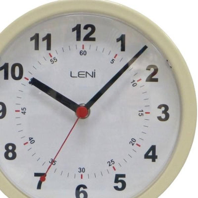 Leni Double Sided Station Wall Clock Metal Ivory 20cm A62030IVO Top