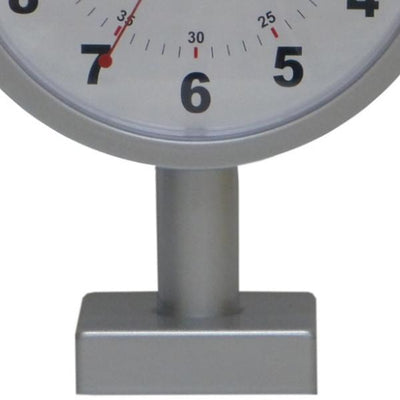 Leni Double Sided Station Wall Clock Metal Silver 20cm 62030SIL Bottom
