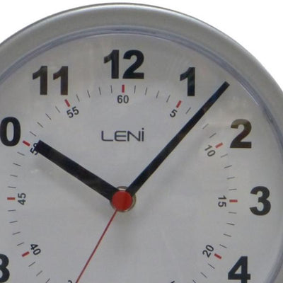 Leni Double Sided Station Wall Clock Metal Silver 20cm A62030SIL Top