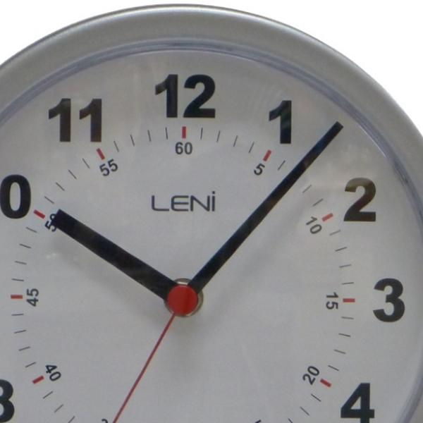 Leni Double Sided Metal Station Wall Clock, Silver, 20cm