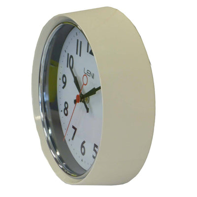Leni Essential Wall Clock Ivory Side A62029IVO