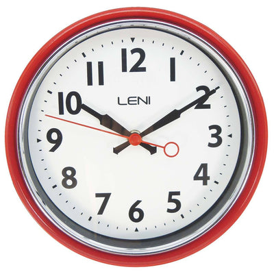 Leni Essential Wall Clock Red Front 62029RED