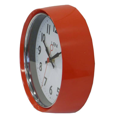 Leni Essential Wall Clock Red Side2 62029RED