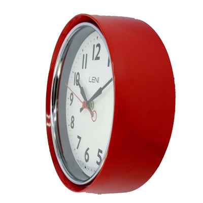 Leni Essential Wall Clock Red Side3 62029RED
