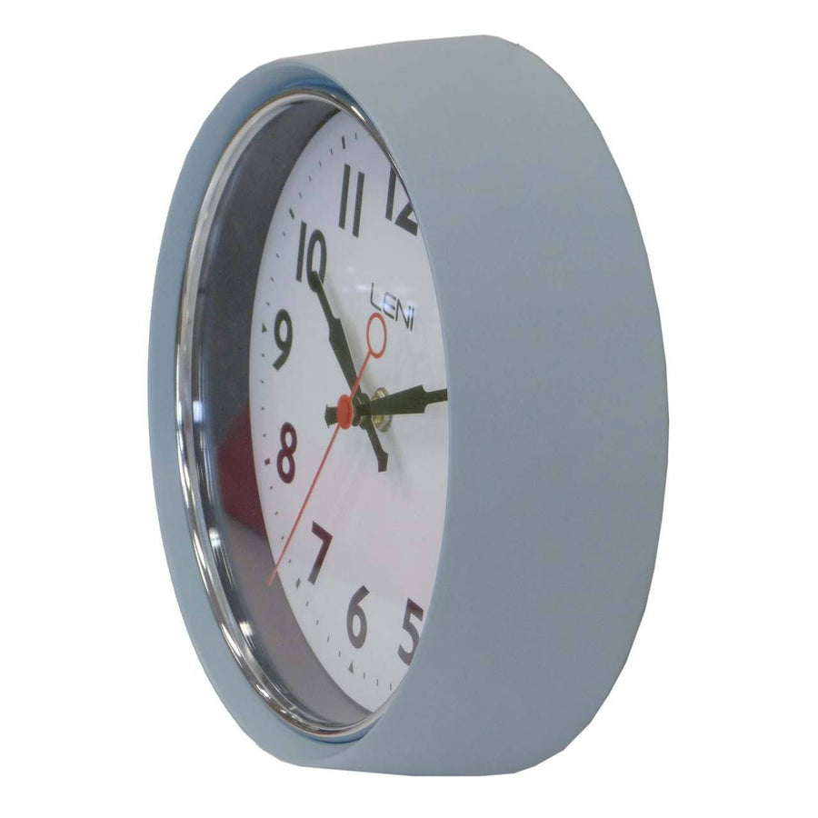 Leni Essential Wall Clock, Slate, 22cm