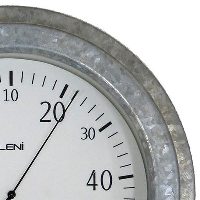 Leni Galvanised Outdoor Thermometer Silver 22cm 640004 2