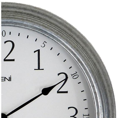 Leni Galvanised Outdoor Wall Clock Silver 41cm 640001 2