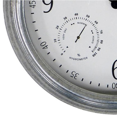 Leni Galvanised Outdoor Wall Clock Silver 41cm 640001 3