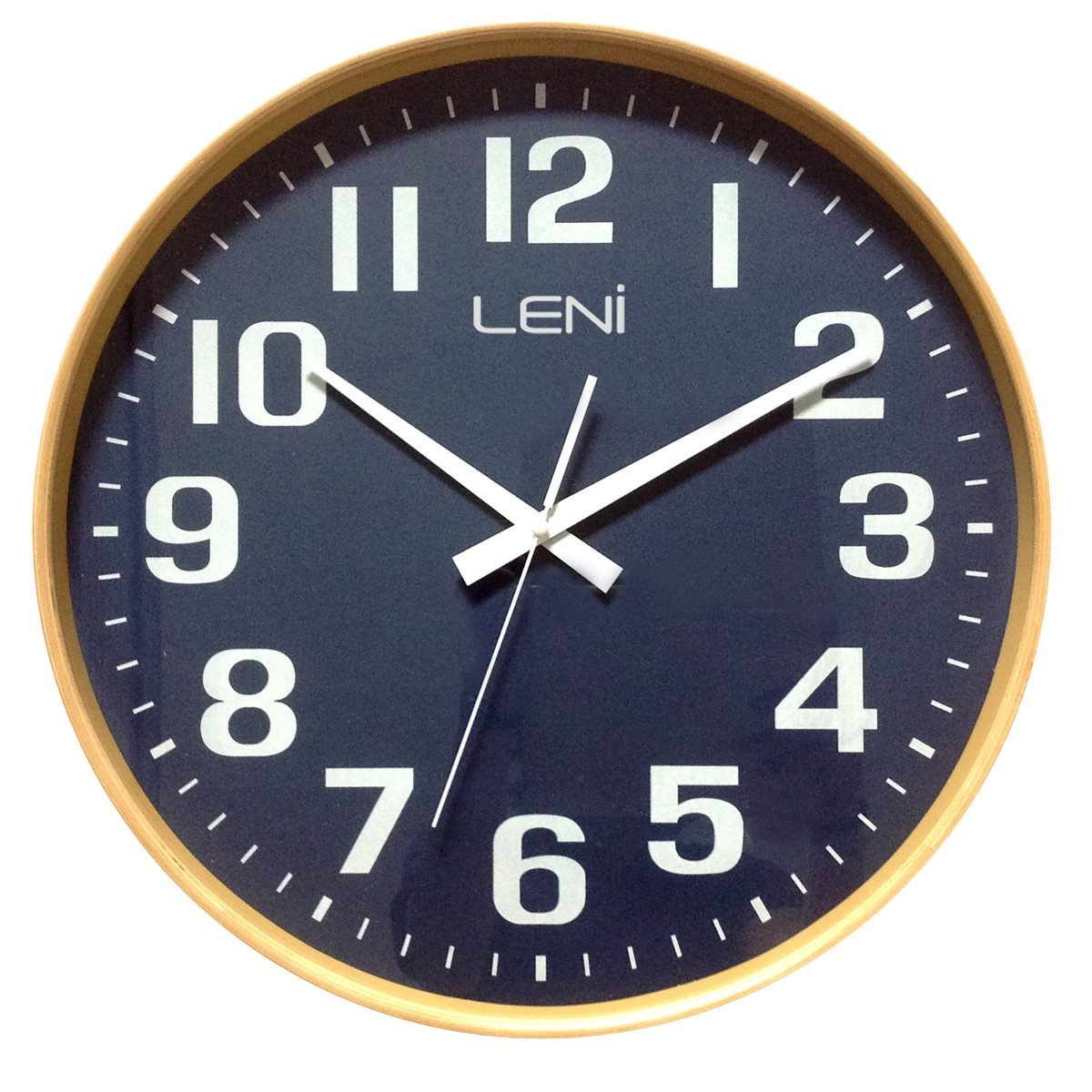 Leni Large Wood Wall Clock Navy 41cm 32001NAV 1