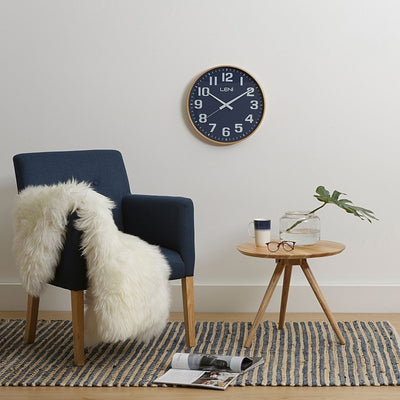 Leni Wood Wall Clock Navy Small Room1 32000NAV