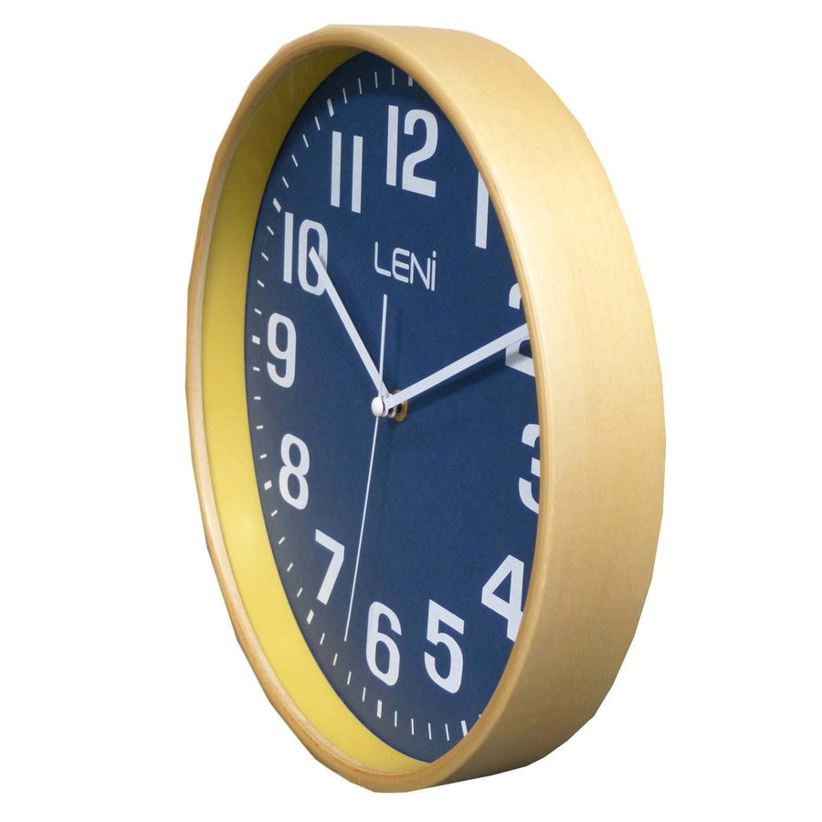 Leni Wood Wall Clock, Navy, Small, 28cm