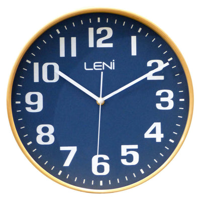 Leni Wood Wall Clock Navy Small Front 32000NAV