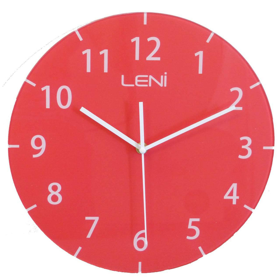 Leni Rainbow Glass Wall Clock Red A27003RED