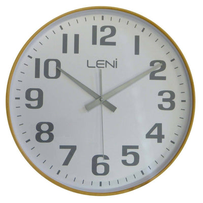Leni Wood Wall Clock White Large Front 32001WHI