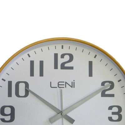 Leni Wood Wall Clock White Large Top 32001WHI