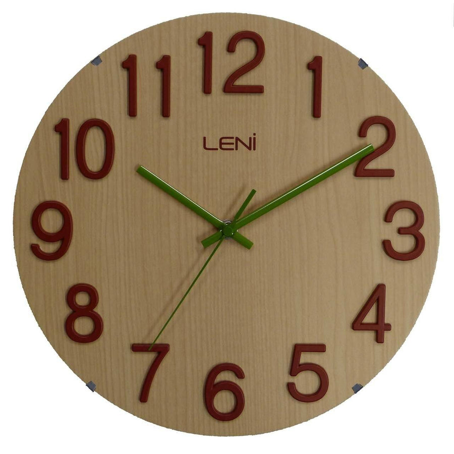 Leni Woody Wall Clock Blond A62027