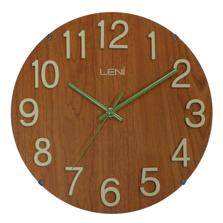 Leni Woody Wall Clock Red Wood A62028