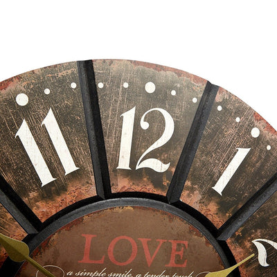 Live Laugh Love Wooden Wall Clock 60cm 11628LOV -Top