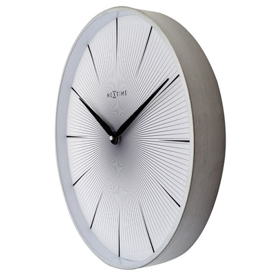 NeXtime 2 Seconds Wall Clock White 40cm 573511WI 1