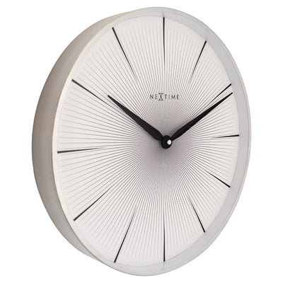NeXtime 2 Seconds Wall Clock White 40cm 573511WI 6