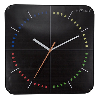 NeXtime 4 Seasons Wall Clock Black 35cm 573239 1