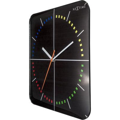 NeXtime 4 Seasons Wall Clock Black 35cm 573239 2