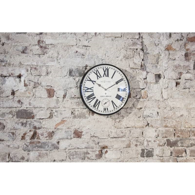 NeXtime Amsterdam Dome Wall Clock Black 30cm 573231 Lifestyle2