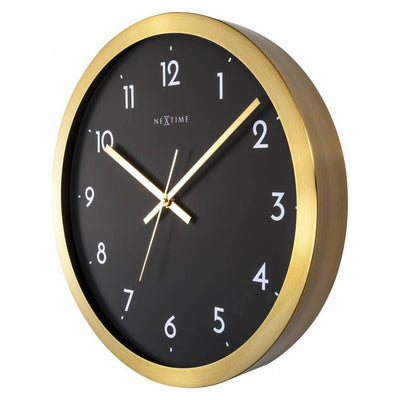 NeXtime Arabic Wall Clock Gold Black 44cm 572523GB Angle2