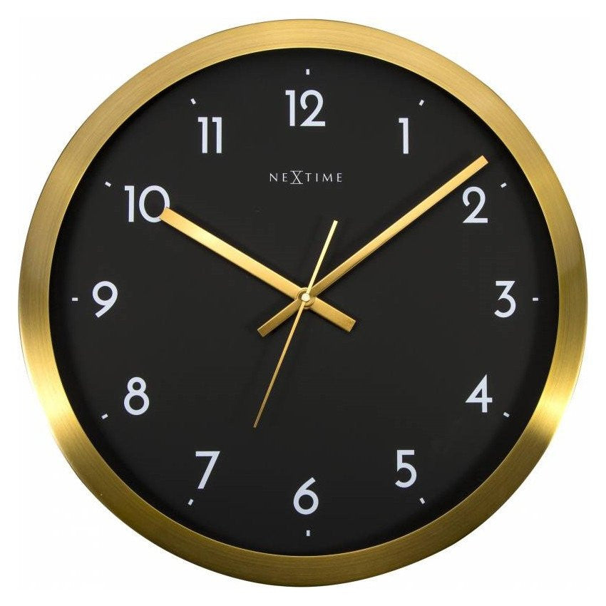 buy nextime arabic wall clock gold and black 44cm online. Black Bedroom Furniture Sets. Home Design Ideas