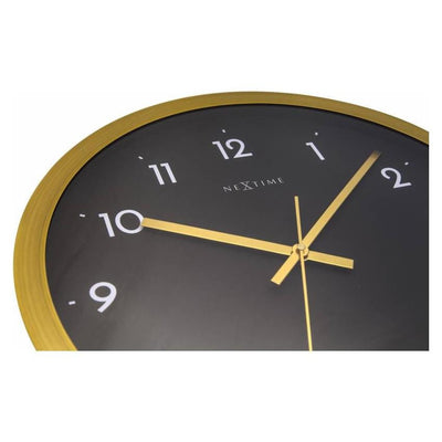 NeXtime Arabic Wall Clock Gold Black 44cm 572523GB Zoom1