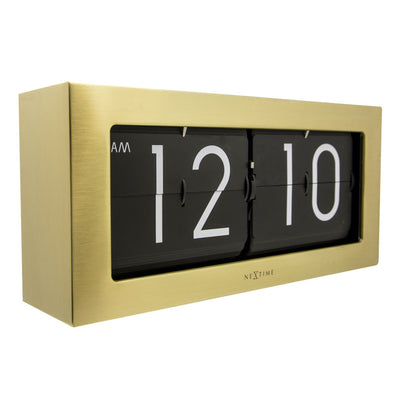 NeXtime Big Flip Wall or Desk Clock Gold 36cm 575198GO 2