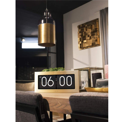 NeXtime Big Flip Wall or Desk Clock Gold 36cm 575198GO 4
