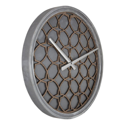 NeXtime Concrete Love Wall Clock Grey Brown 40cm 573212BR Angle