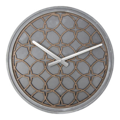 NeXtime Concrete Love Wall Clock Grey Brown 40cm 573212BR Front