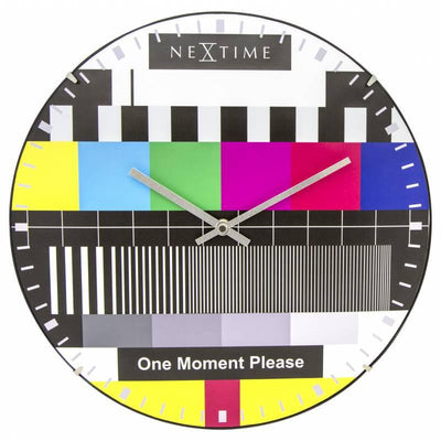 NeXtime Dome Testpage Wall Clock Multicoloured 35cm 573162 Front