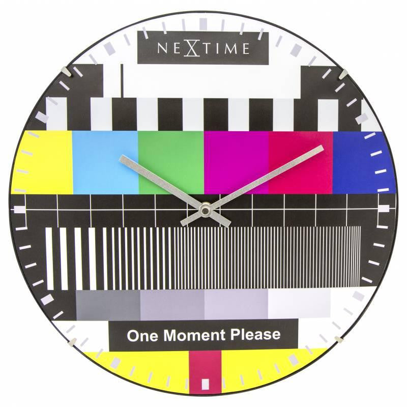 NeXtime Dome Testpage Wall Clock Multicoloured 35cm 573162 Angle