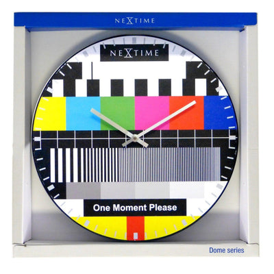 NeXtime Dome Testpage Wall Clock Multicoloured 35cm 573162 Front Package
