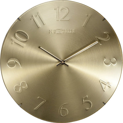 NeXtime Elegant Dome Wall Clock Gold 35cm 573236GO 1