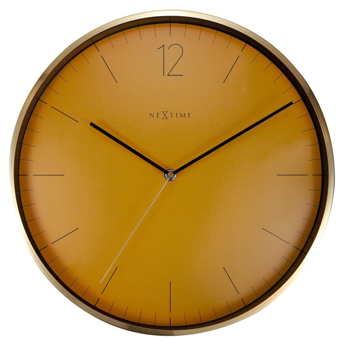 NeXtime Essential Gold Metal Wall Clock Fruity Mandarin Orange 34cm 573252FM 1