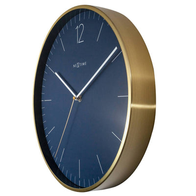 NeXtime Essential Gold Metal Wall Clock Vintage Blue 34cm 573252BL 3