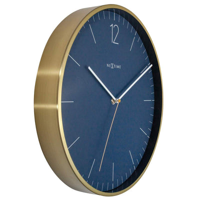 NeXtime Essential Gold Metal Wall Clock Vintage Blue 34cm 573252BL 4