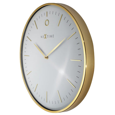 NeXtime Glamour Wall Clock Gold and White 30cm 573256WI 2