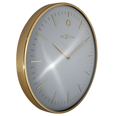 NeXtime Glamour Wall Clock Gold and White 30cm 573256WI 3