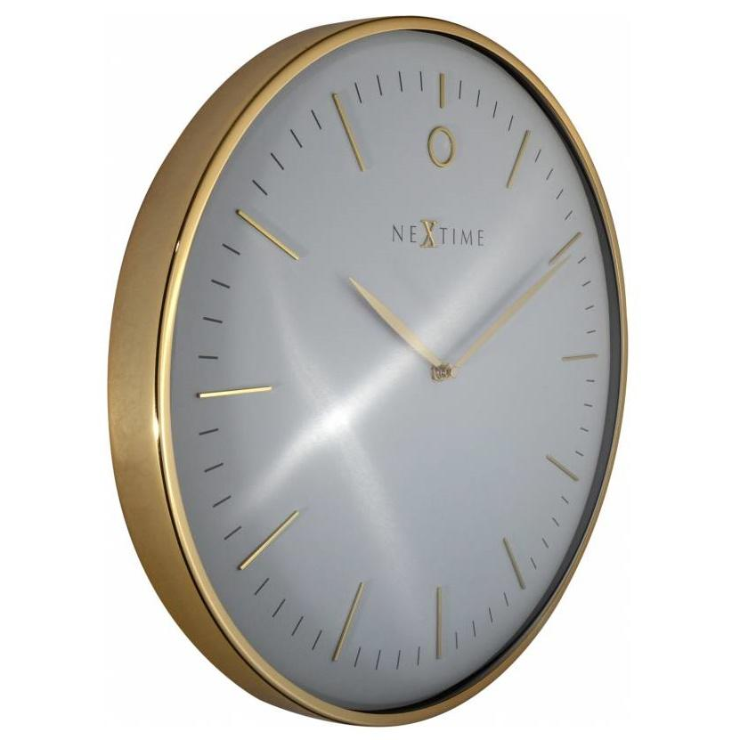 NeXtime Glamour Wall Clock Gold and White 40cm 573235WI 3