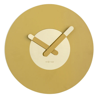 NeXtime In Touch Wall Clock Gold 40cm Front 573189GO