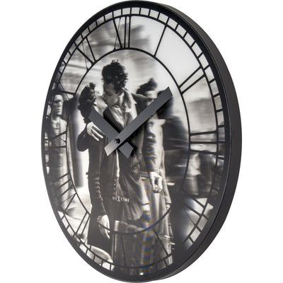 NeXtime Kiss Me In Paris Wall Clock 40cm Angle Left 573213