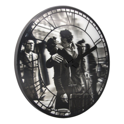 NeXtime Kiss Me In Paris Wall Clock 40cm Angle 573213