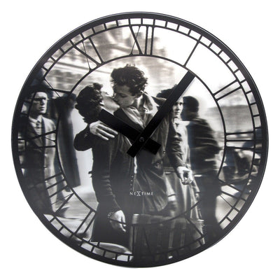 NeXtime Kiss Me In Paris Wall Clock 40cm Front 573213