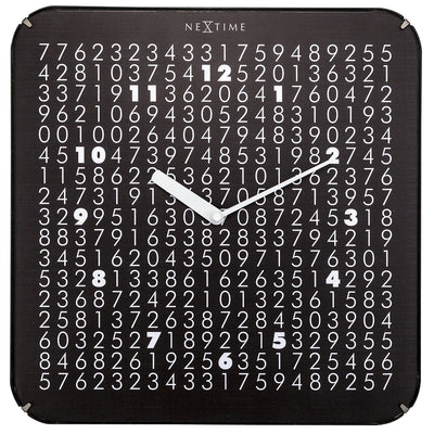 NeXtime Labyrinth Wall Clock Black 35cm 573244 1