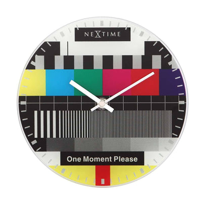 NeXtime Little Test Page Wall Clock 20cm Front 575162